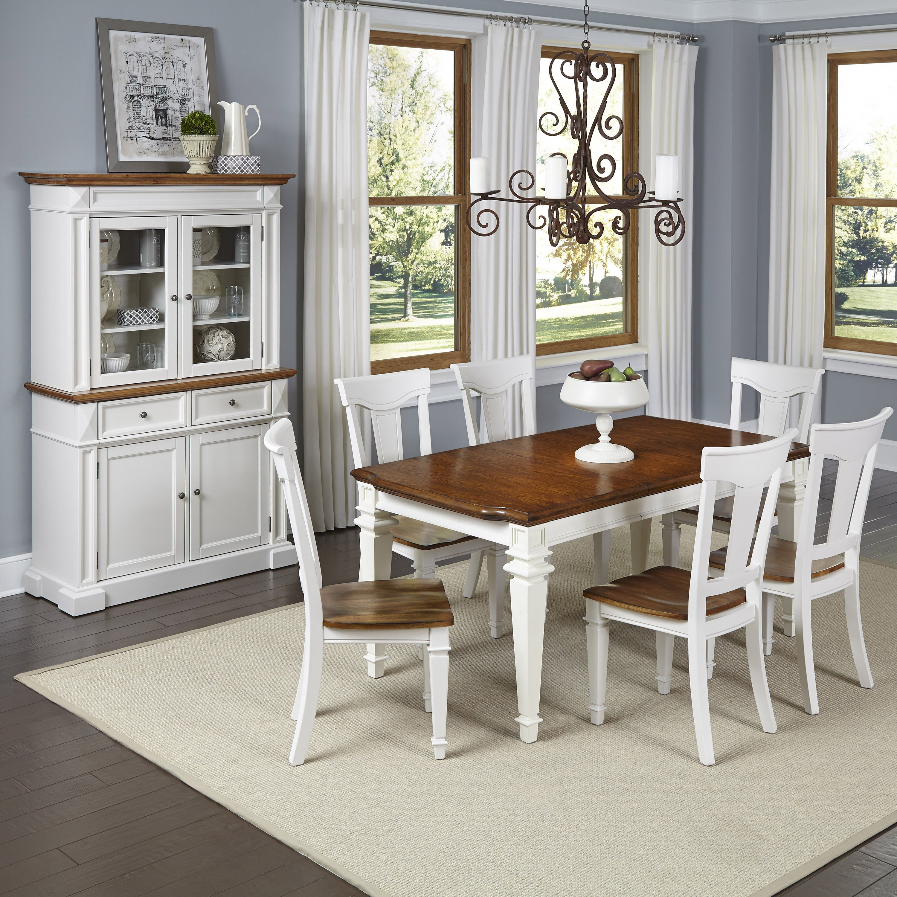 Americana 7 Piece Dining Set With Buffet And Hutch By Home Styles Overstock 9922555