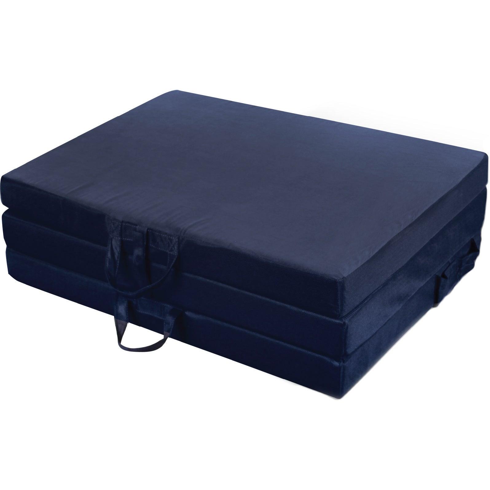 Jordan Twin Tri-Fold Mat (Navy), Blue