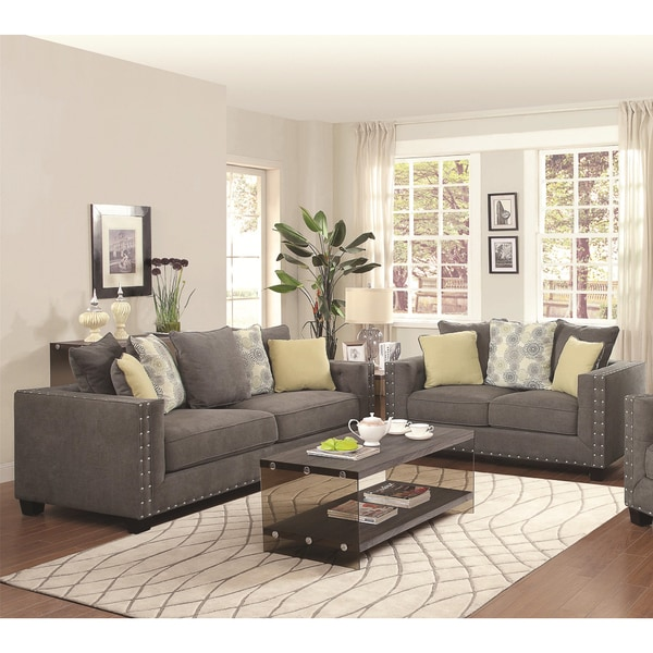 Calvin Button 2-piece Living Room Set - Free Shipping Today ...