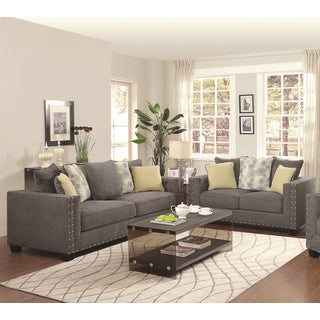 Calvin Button 2-piece Living Room Set