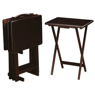 Casual 4-piece Tray Table Set with Stand