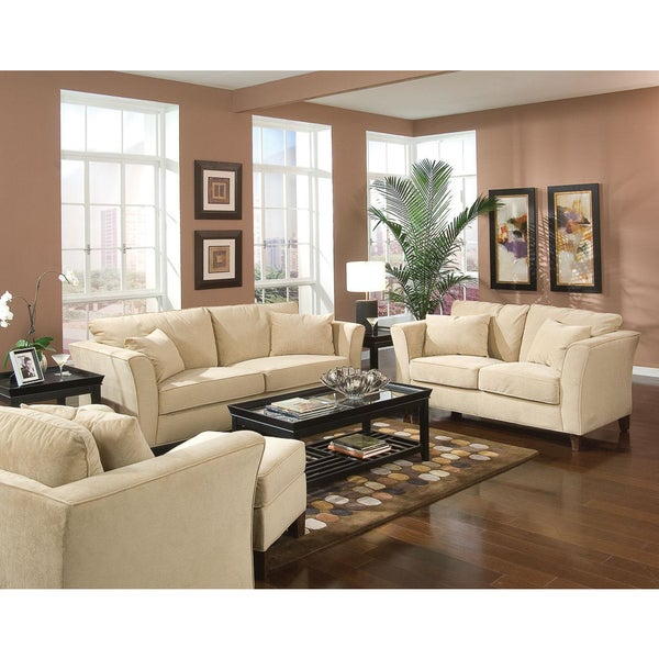 Park Ave 3-piece Living Room Set - Free Shipping Today - Overstock ...
