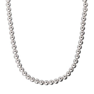 Karizia Sterling Silver 8mm Bead Necklace