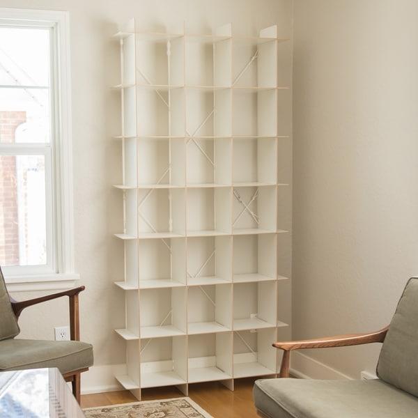 100 cube storage bookcase broadview pure white 6 cube stora
