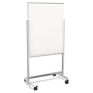 Visionary Move Rolling Glass Dry Erase Easel