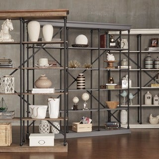 Link to Barnstone Cornice Triple Shelving Bookcase by iNSPIRE Q Artisan - Large Similar Items in Living Room Furniture
