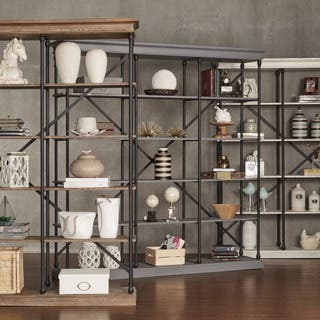 Barnstone Cornice Triple Shelving Bookcase by iNSPIRE Q Artisan|https://ak1.ostkcdn.com/images/products/9922892/P17080108.jpg?impolicy=medium