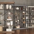 SIGNAL HILLS Barnstone Cornice Triple Shelving Bookcase