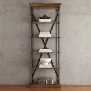 Barnstone Cornice Etagere Bookcase by iNSPIRE Q Artisan (Option: Brown Finish)