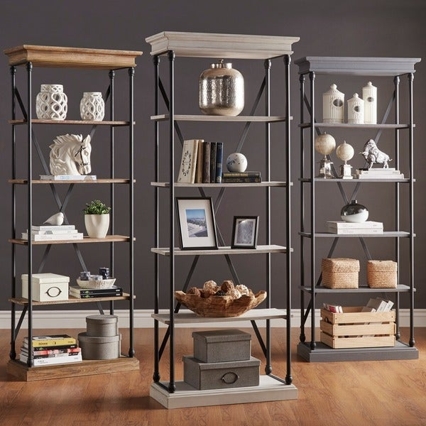 Signal hills barnstone cornice etagere bookcase free for B q living room shelves
