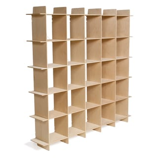 Wood Modern Cube Bookcase