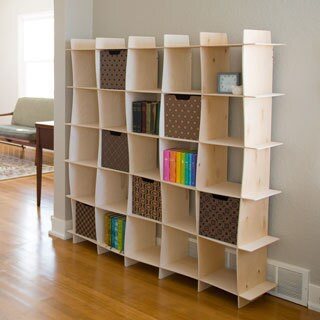 Wood Wave Modern Bookcase