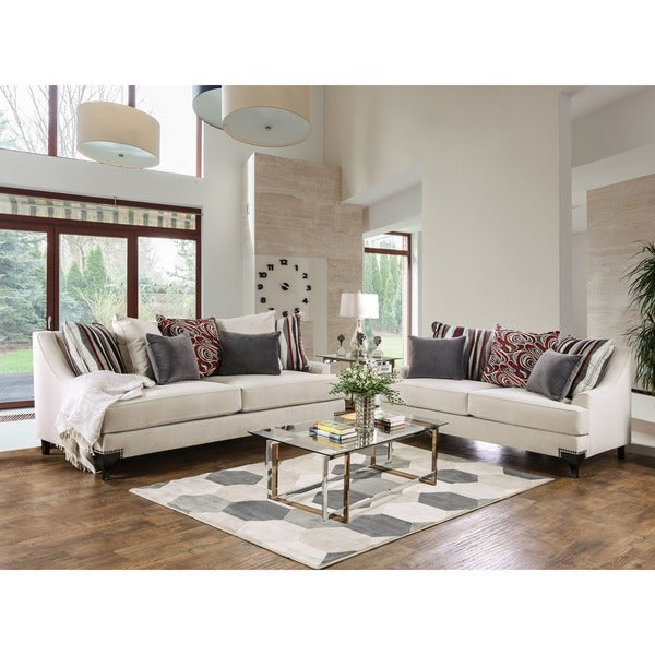 Furniture Of America Living Room Collections: Shop Furniture Of America Estella 2-piece Sofa Set