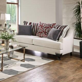 Furniture Of America Estella Retro Peacock Blue Sofa