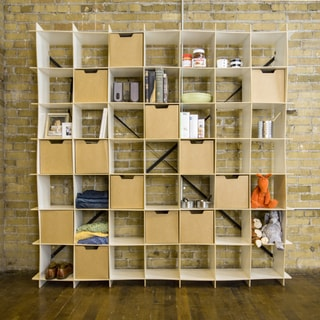 Modern 49 Cube Wave Storage Bookcase