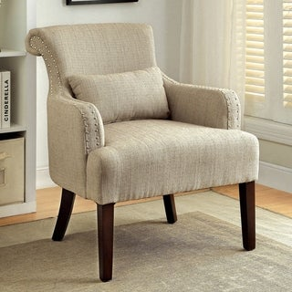 Furniture of America Nyer Modern Fabric Upholstered Accent Chair