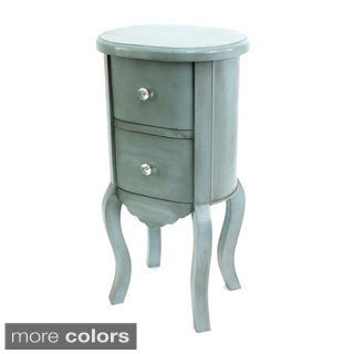 Round 2-drawer Side Table