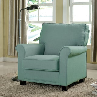 Furniture of America Charmayne Padded Linen Arm Chair