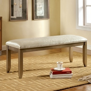 Furniture of America Gretchen Silver Upholstered Bench