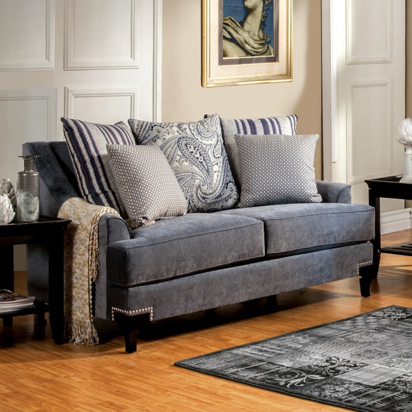 Furniture of America Pere Contemporary Fabric Upholstered Loveseat