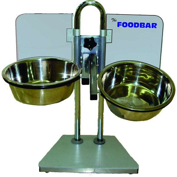 Foodbar Adjustable Pet Feeder with Bowls. Opens flyout.
