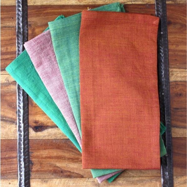 Set of 4 Garden Handmade Napkins (India)