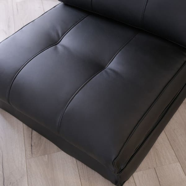 Tremendous Shop Abbyson Jackson Black Leather Single Sleeper Chair On Onthecornerstone Fun Painted Chair Ideas Images Onthecornerstoneorg