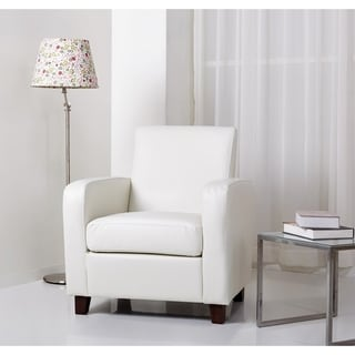 Abbyson Mercer Ivory Bonded Leather Club Chair