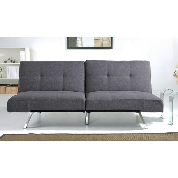 Lovely Abbyson Aspen Grey Fabric Foldable Futon Sleeper Sofa Bed Luxury - Modern overstock sleeper sofa Photos