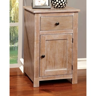 Furniture of America Corina Country Style Antique Wood Storage Table