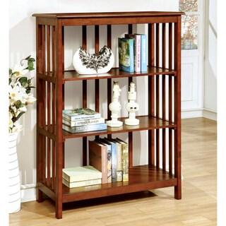 Furniture of America Bellins Mission Style 3-Shelf Bookshelf