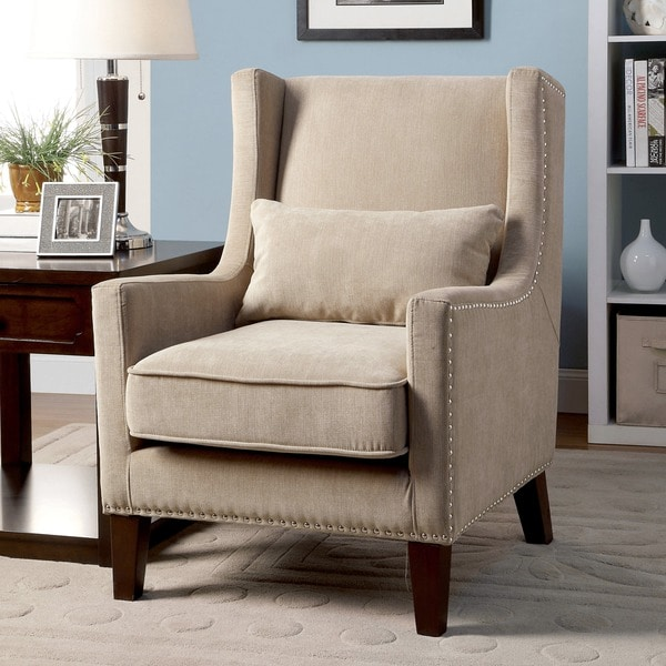 Shop Furniture Of America Emilla High Back Accent Chair