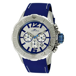 Adee Kaye Men's Grand Mond-G2C Blue and Silvertone Watch