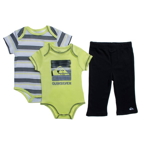 441557dd27 Shop Quicksilver Infant Boys Green Creepers 3-piece Bodysuit and ...