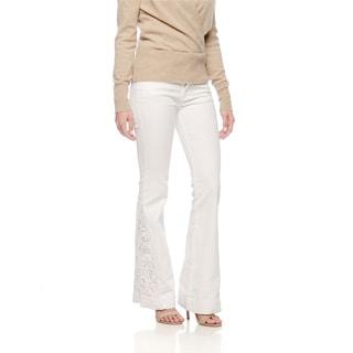 Andrew Charles Women's White Henna Pants Size 24
