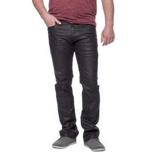 Andrew Charles Men's Indigo Black Coated Jeans