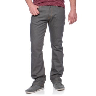 Andrew Charles Men's Coated Grey Boot Cut Jeans