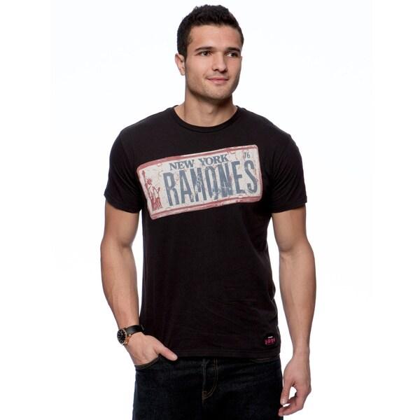 Riff Stars Men's Ramones License Plate T-shirt Size Medium