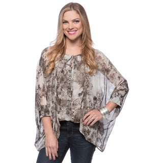 Andrew Charles Women's Grey Abstract Pattern Blouse