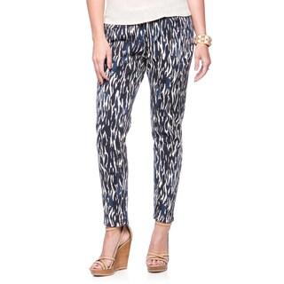 Andrew Charles Women's Blue Rain Pattern Skinny Jeans Size 29