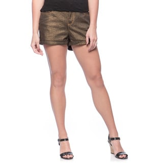Andrew Charles Women's Gold Woven Shorts
