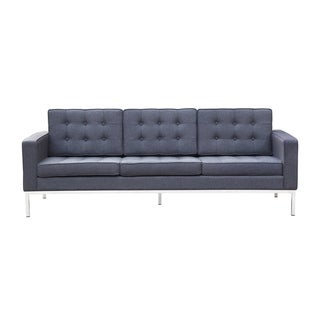 Button Sofa In Wool (Grey - Contemporary)