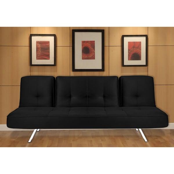 'Irvine' Black Mesh Convertible Sofa. Opens flyout.