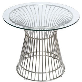 Gold Wire Framed Side Table With Glass Top Free Shipping