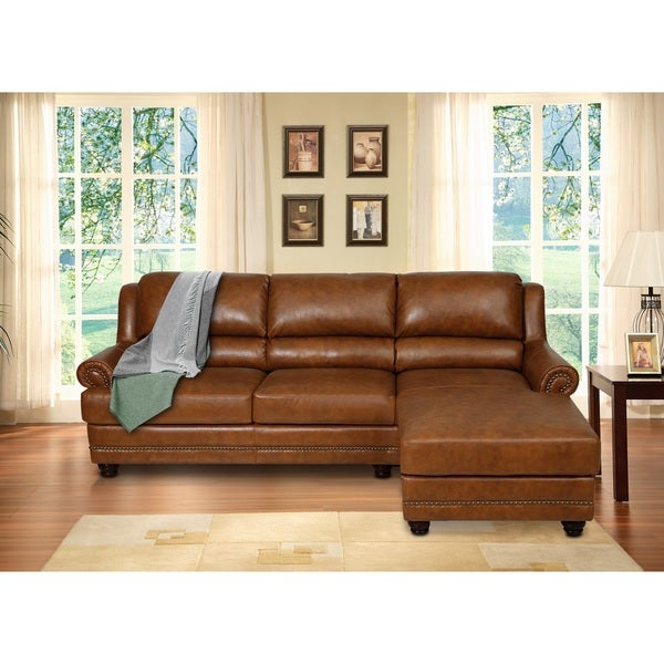 Shop Victoria Leather Sectional Sofa Free Shipping Today