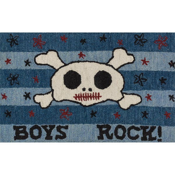 Shop Hand Tufted Keely Blue Boys Rock Rug 2 3 Quot X 3 9