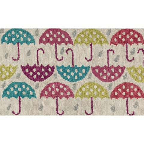 "Hand-tufted Keely Ivory/ Multi Umbrella Rug (2'3 x 3'9) - 2'3"" x 3'9"""