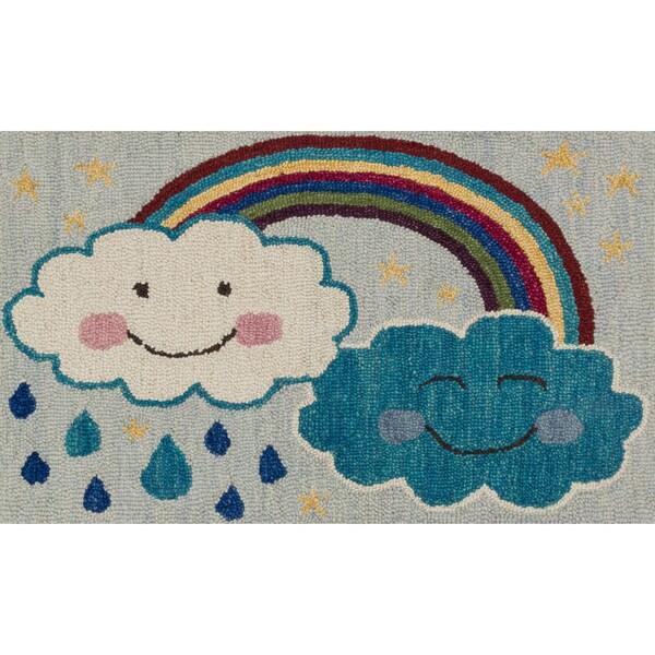"""Hand-tufted Keely Rainbow Rug (2'3 x 3'9) - 2'3"""" x 3'9"""""""