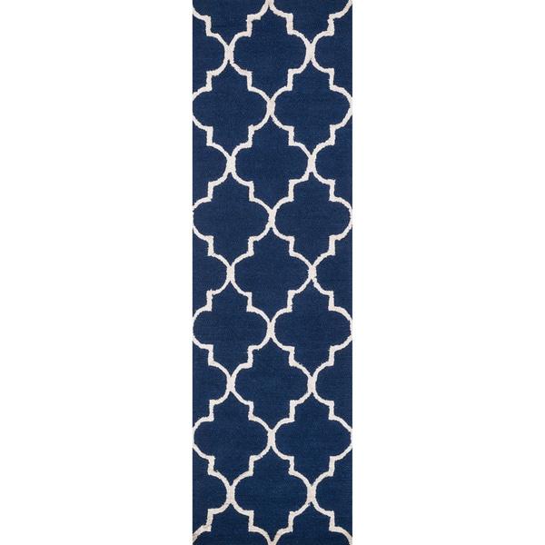 Hand-hooked Carolyn Moroccan Trellis Rug
