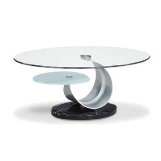 Tempered Glass Curl End Table